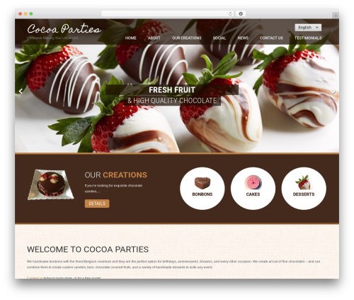 Coffee Pro WordPress theme - cocoaparties.com