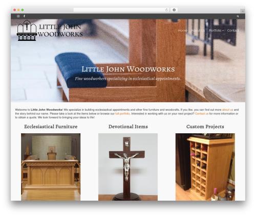 Pinnacle WordPress theme - littlejohnwoodworks.com