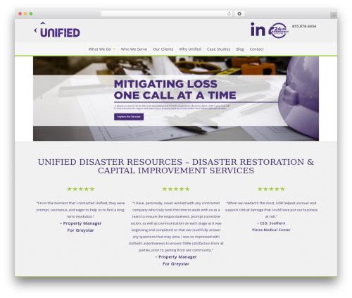 Pro Business WordPress website template - trustudr.com