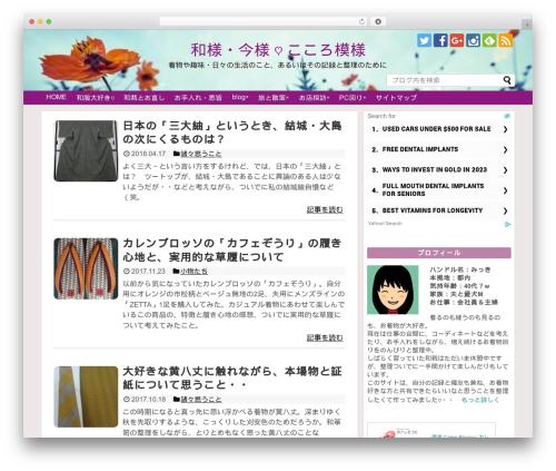 Simplicity2 child theme WordPress - mikki-site.com