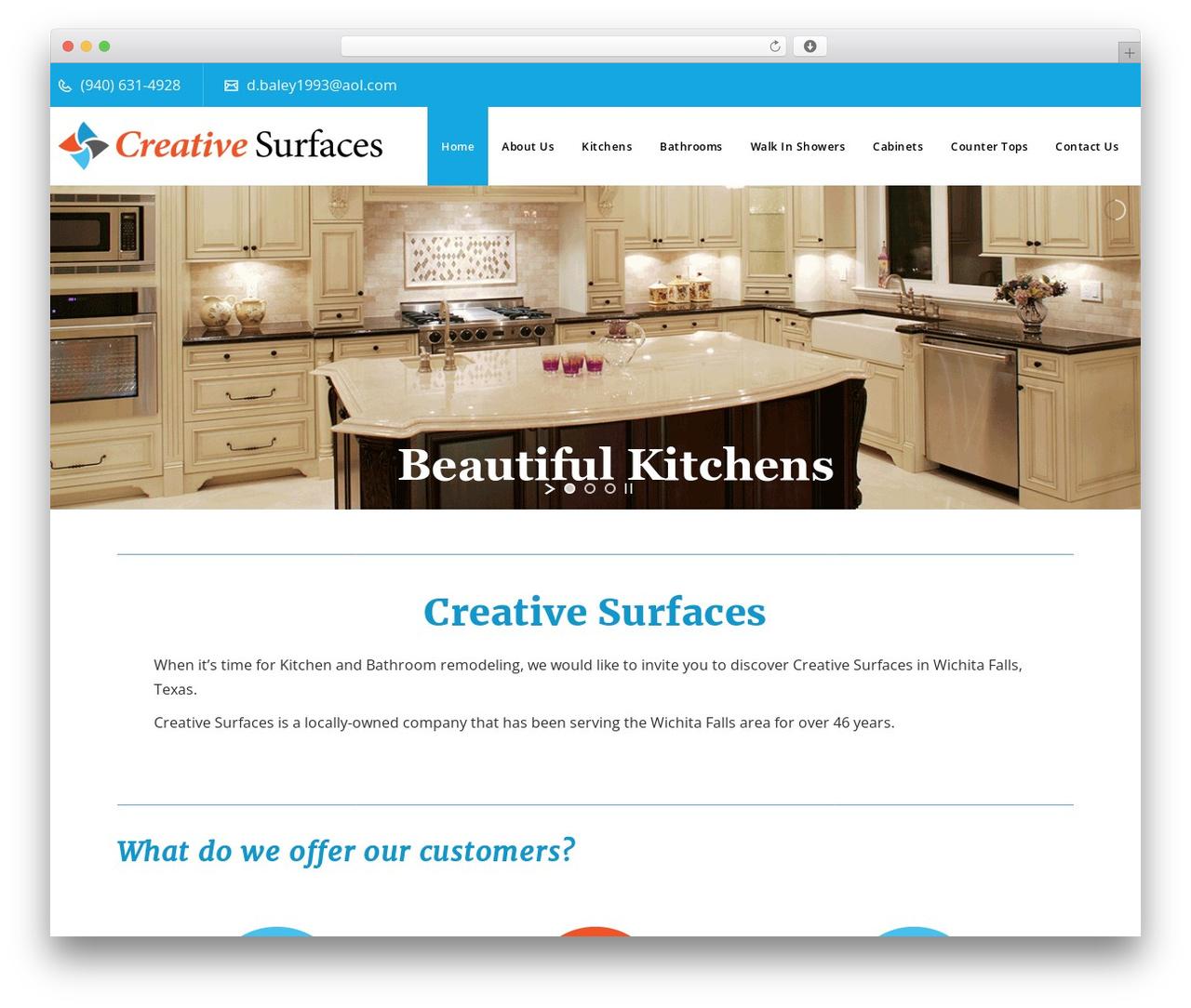 Veda best WordPress theme - creativesurfacestx.com