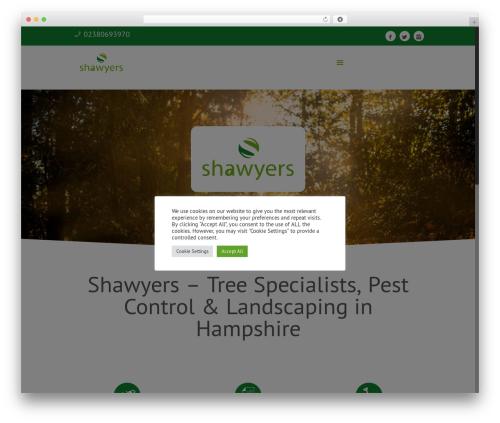 Betheme landscaping WordPress theme - shawyers.com