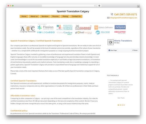 Sydney free WordPress theme - spanishtranslationcalgary.com