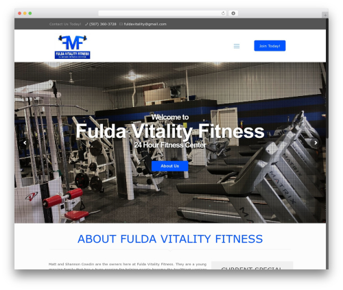WordPress theme Betheme - fuldavitality.com
