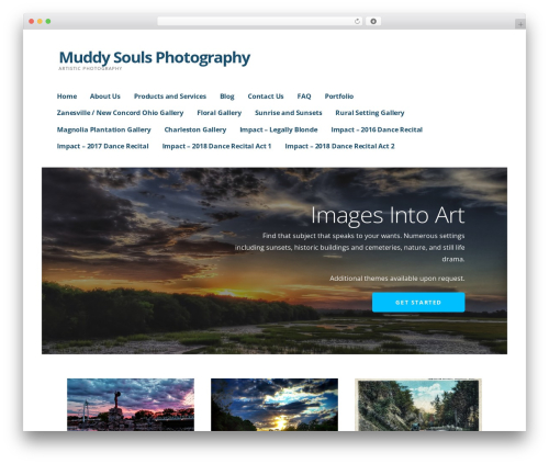 Ascension WordPress template for photographers - muddysoulsphotography.com