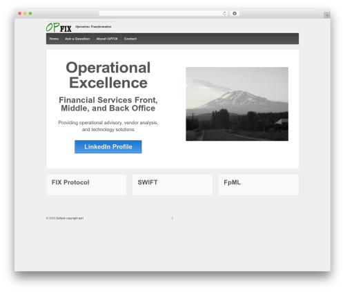 Best WordPress template Responsive - opfix.com