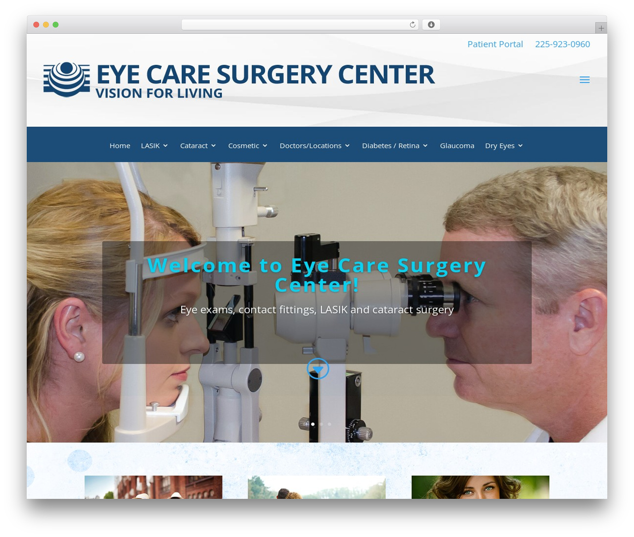 Best WordPress theme Divi - eyecaresurgerycenterbr.com