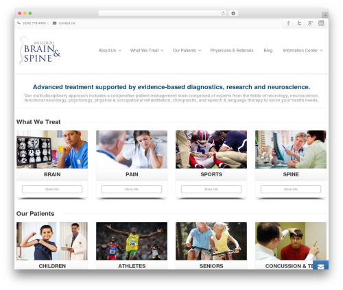 Envision WordPress page template - mobrainandspine.com