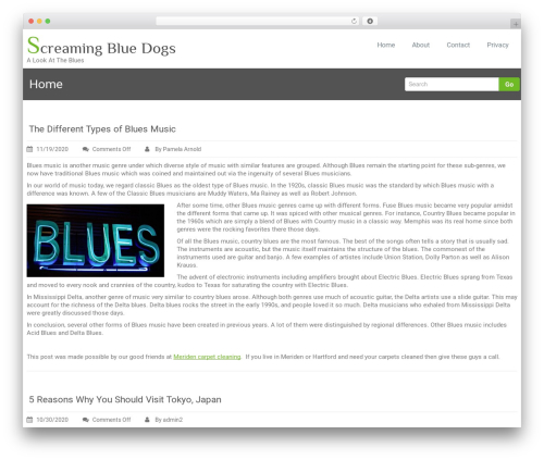 Rambo theme WordPress - screamingbluedogs.com