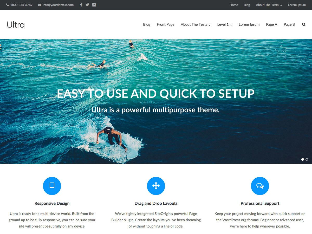 Ultra_2 WordPress portfolio theme