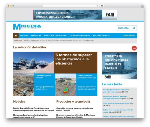 WordPress theme Route1Americas - Parent Theme - mineria-pa.com