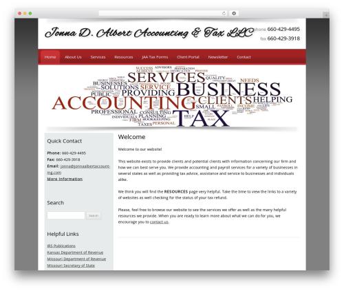 Customized WordPress template for business - jonnaalbertaccounting.com