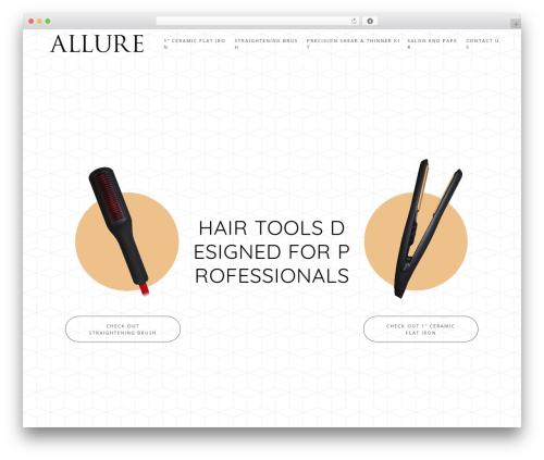 Starkers WordPress website template - allurehaircare.com