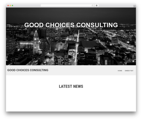 WordPress website template SKT White - goodchoicesconsulting.com