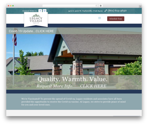 Betheme premium WordPress theme - legacyvillagetaylorsville.com