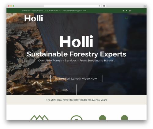 Betheme theme WordPress - holliforest.com