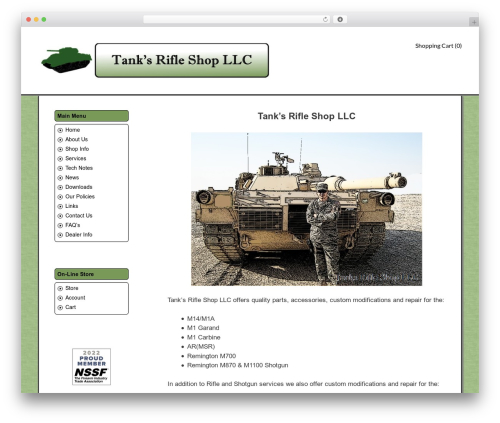 GeneratePress WP template - tanksrifleshop.com