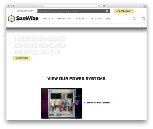 X best WordPress theme - sunwize.com