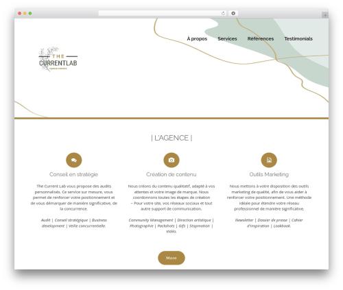 bizzy WordPress template - thecurrentlab.com