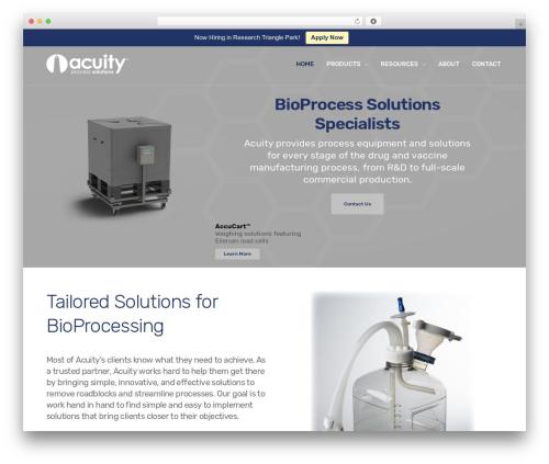 Revolution premium WordPress theme - acuityprocess.com