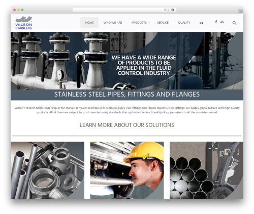 Whitelabel best WordPress theme - wilsonstainless.com