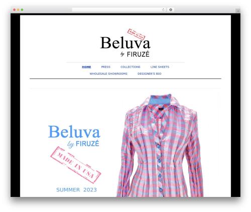 Elemin WordPress page template - beluva.com