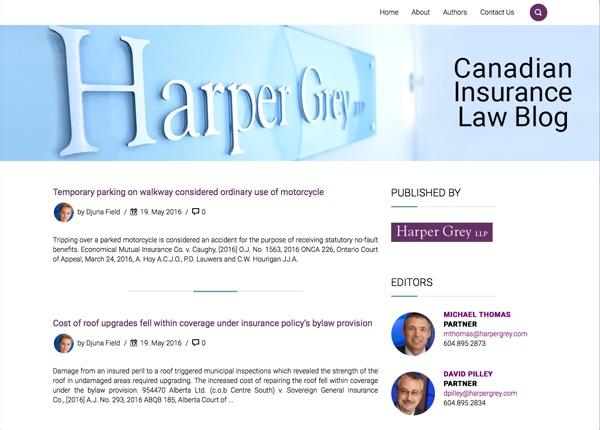 Harper Grey WordPress blog template