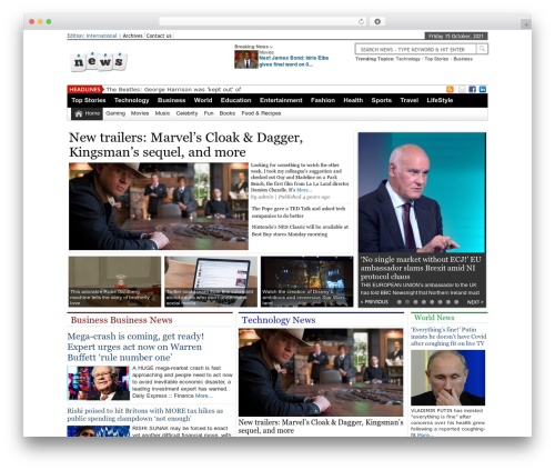 Online News Portal WordPress theme design - redbpo.com
