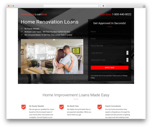 WordPress theme Benchmark - renovationloannow.com
