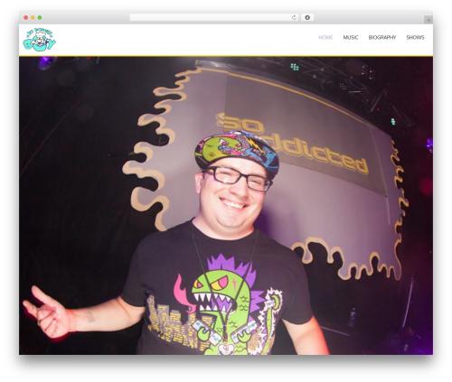 AccessPress Parallax WP theme - doughboyhardcore.com