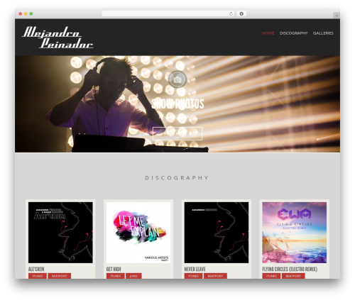 Berliner WordPress theme - alepemusic.com