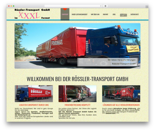 Best WordPress theme D5 Business Line Extend - roessler-transporte.com