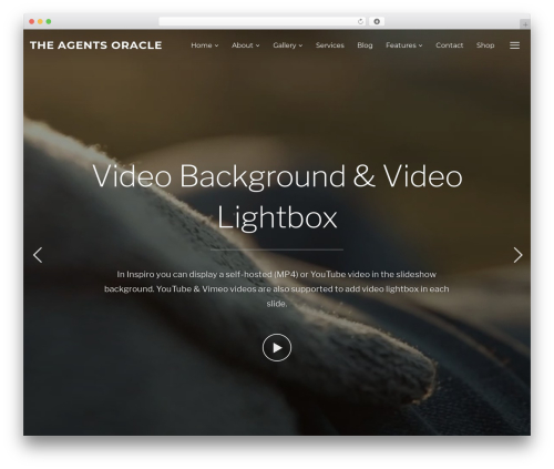 Best WordPress theme Inspiro - theagentsoracle.com