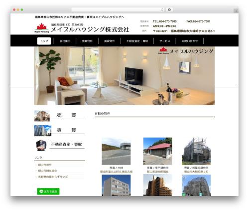 cloudtpl_1395 WP theme - maple-housing.com