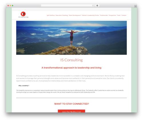Lounge company WordPress theme - isconsultingco.com