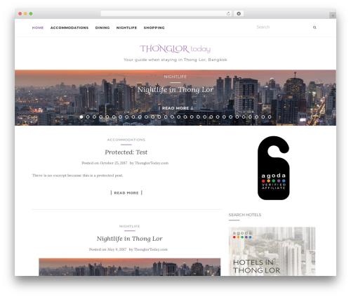 Activello free WordPress theme - thonglortoday.com