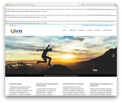 Businessweb Plus template WordPress free - kmsecuritygroup.com