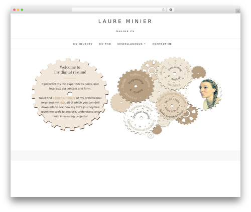 Theme WordPress Edge - laureminier.com