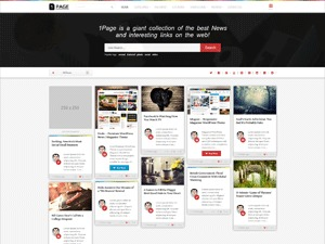 1Page WordPress magazine theme