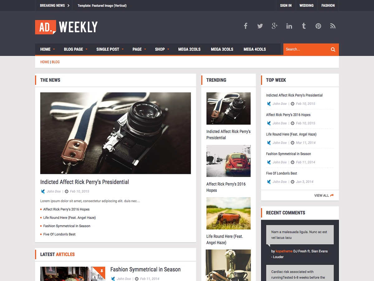 Ad Mag-Lite free WordPress theme