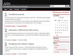 alibi template WordPress