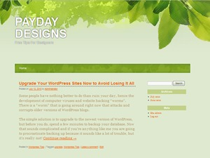 All Green WordPress page template