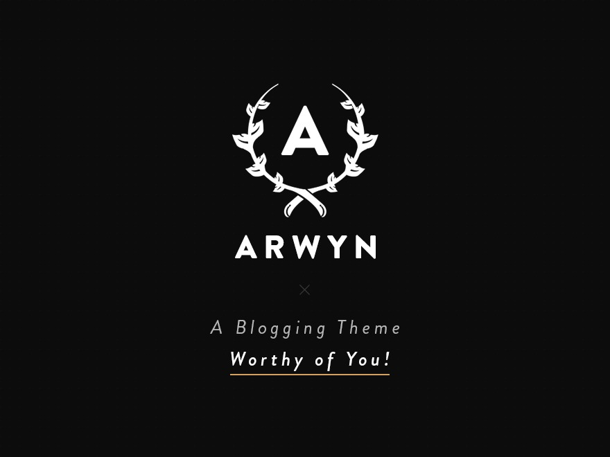 Arwyn WordPress blog template