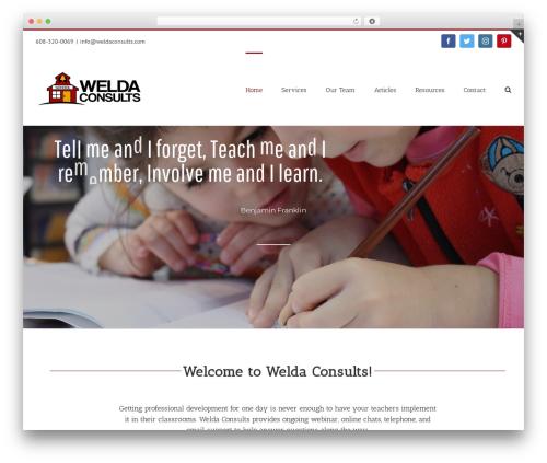 Avada WordPress theme - weldaconsults.com