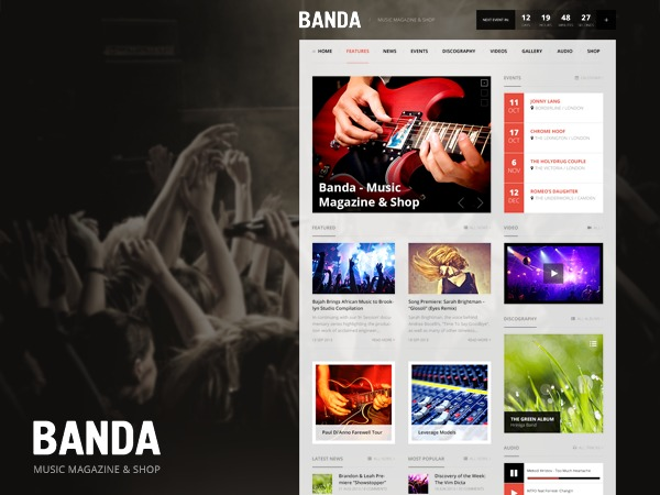 Banda WordPress shopping theme