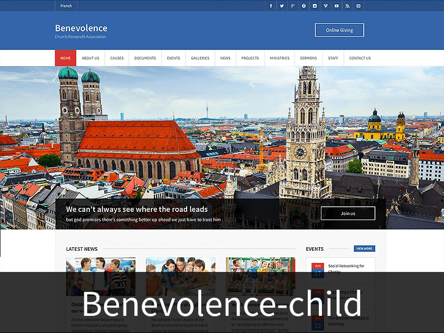 Benevolence Child Theme premium WordPress theme