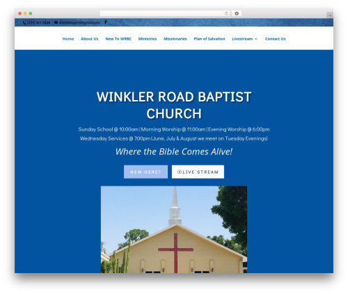 Best WordPress template Divi - winklerbaptist.org