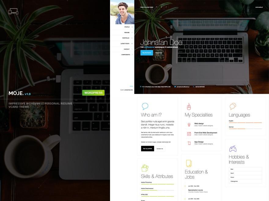 Best WordPress template Moje
