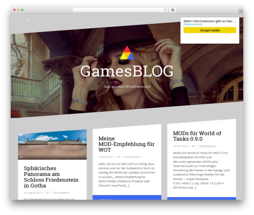 Best WordPress template Oblique - webblog2.die-thiemes.de