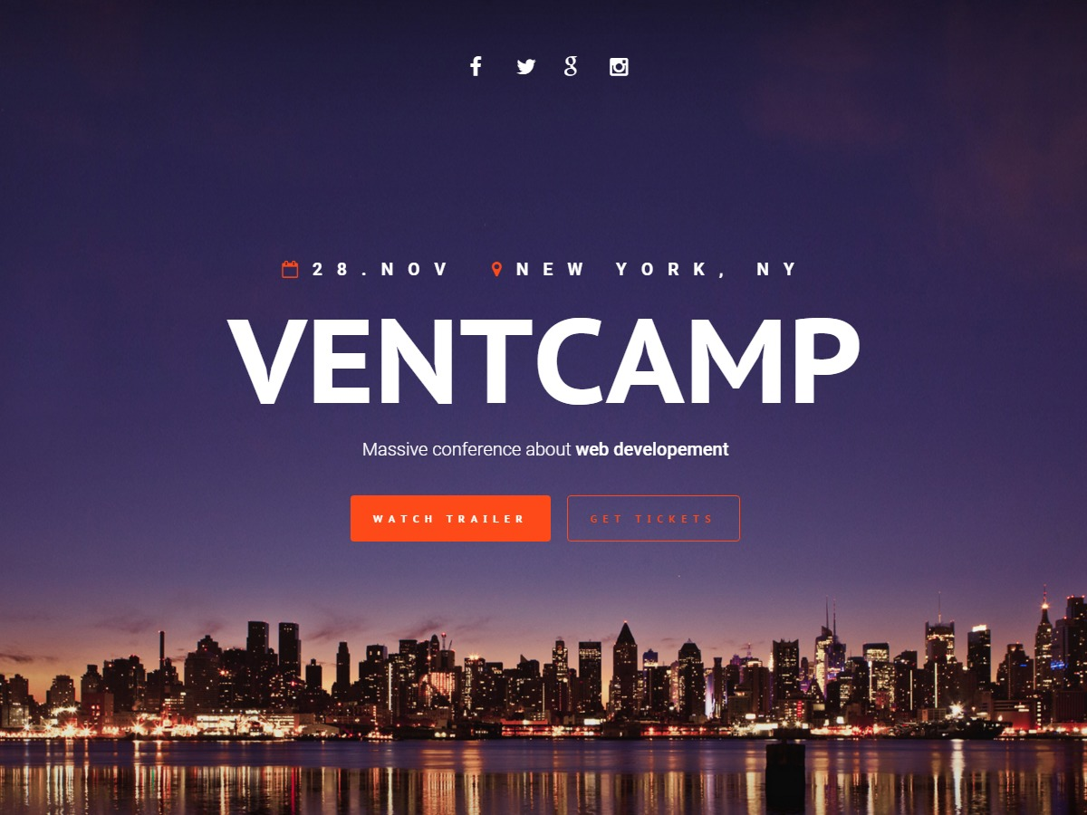 Best WordPress template VentCamp